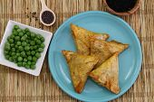 Vegetarian Indian samosas