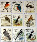 Ireland stamps with birds