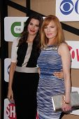 Meghan Ory and Marg Helgenberger at the CBS, Showtime, CW 2013 TCA Summer Stars Party, Beverly Hilto