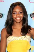 Gabby Douglas at the 2013 Teen Choice Awards Press Room, Gibson Amphitheatre, Universal City, CA 08-