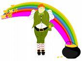 leprechaun large rainbow pot gold