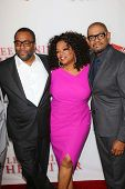 Lee Daniels, Forrest Whitaker and Oprah Winfrey at