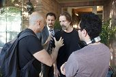 Loris Curci, Mark Gantt, Michael Biehn, Patricio Valledares on set of