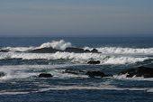 Pacific Ocean Horizon Waves Rocks California