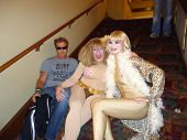 Dewey Weber, Cousin Wonderlette, Rena Riffel at the Peaches Christ SHOWGIRLS Night of 1000 Showgirls