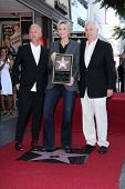Ryan Murphy, Jane Lynch and Christopher Guest at the Jane Lynch Star on the Hollywood Walk of Fame C
