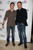 Robbie Amell and Mark Pellegrino at the PaleyFest Previews:  Fall TV CW -