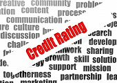 Credit Rating Word Cloud