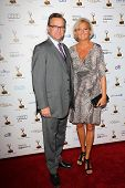 Hugh Bonneville and wife Lulu Williams  at the 65th Annual Emmy Awards Performers Nominee Reception,