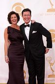Stephen Colbert at the 65th Annual Primetime Emmy Awards Arrivals, Nokia Theater, Los Angeles, CA 09