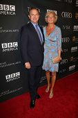 Hugh Bonneville and Lulu Williams at the BAFTA Los Angeles TV Tea 2013, SLS Hotel, Beverly Hills, CA 09-21-13