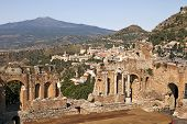 Taormina Viewpoint With Theatre