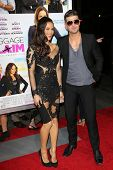 Paula Patton and Robin Thicke at the