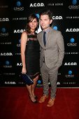 Adam Scott and wife Naomi Scott at the