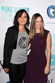 Mariska Hargitay and Hilary Swank at the Joyful Heart Foundation celebrates the No More PSA Launch, Milk Studios, Los Angeles, CA 09-26-13
