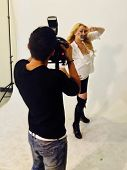 Jennifer Blanc-Biehn behind the scenes of an Adam Bouska NOH8 Photo Shoot, Private Location, Los Ang