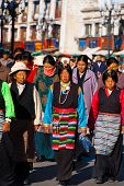 Traditional Tibetan Women Clothes Headpiece Lhasa