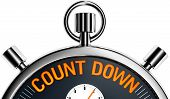 stock photo of count down  - high resolution 3D rendering of a count down concept - JPG