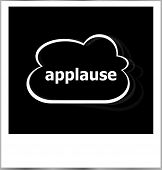 Applause Word Business Concept, Photo Frame Isolated On White