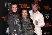 Ali Landry and Kyle Richards at the 8th Annual LA Haunted Hayride Premiere Night, Griffith Park, Los Angeles, CA 10-10-13