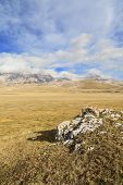 picture of apennines  - amazing campo imperatore view on Abruzzo Apennines