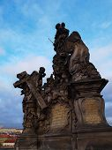 Statue of Madonna and St. Bernard Charles Bridge, Prague