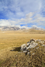 image of apennines  - amazing campo imperatore view on Abruzzo Apennines