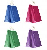 Four Colorful Shopping Bags
