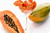 Yellow, orange and green - the Papaya fruit