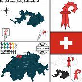 Map Of Basel-landschaft, Switzerland