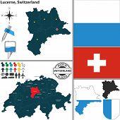 Map Of Lucerne, Switzerland