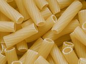 Uncooked Maccheroni Pasta Tubes Food Texture Background