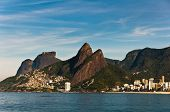 stock photo of ipanema  - Picturesque view of Rio de Janeiro mountains with urban areas - JPG