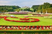 VIENNA, AUSTRIA - SEPTEMBER 26, 2013: Schonbrunn - the summer residence of the Austrian Habsburgs. A