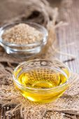 Sesame Oil In A Small Bowl