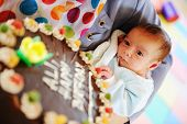 Baby at birthday party