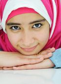 Portrait of beautiful Arabic Muslim girl