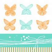 Card With Butterflies And Bow