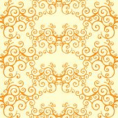 Seamless Lace Pattern Orange