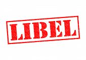 foto of immoral  - LIBEL red Rubber Stamp over a white background - JPG