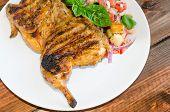 Chicken Under A Brick With Panzanella Salad