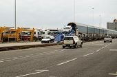 Mini Cars unloaded, Southampton Docks
