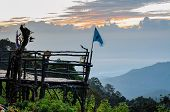 Podium For Natural View On Viewpoint Doi Ang Khang Mountains