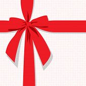 red gift bow vector background
