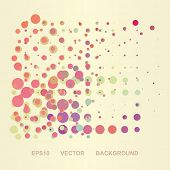 Abstract Background with Colorful Dotted Pattern