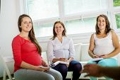 Pregnant women at antenatal class