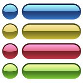 Color plastic buttons for web design.