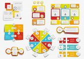 Big set of infographic elements  set vector EPS10