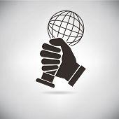 hand hold up an award