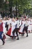 Parade Of Estonian National Song Festival In Tallinn, Estonia